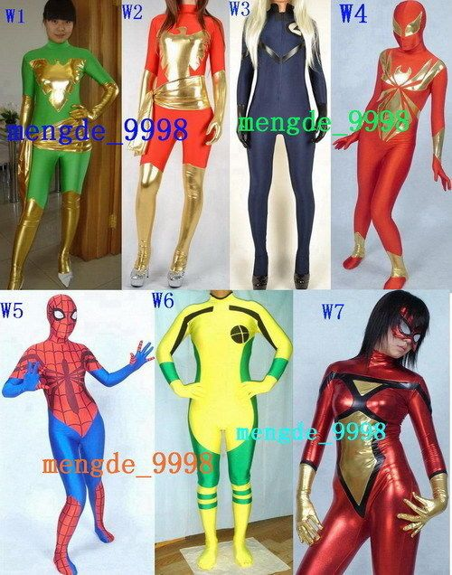 7 STYLE LYCRA SPANDEX ZENTAI WOMEN'S CATSUIT COSTUMES HALLOWEEN COSPLAY COSTUMES #SEXYWOMENSCOSTUMES