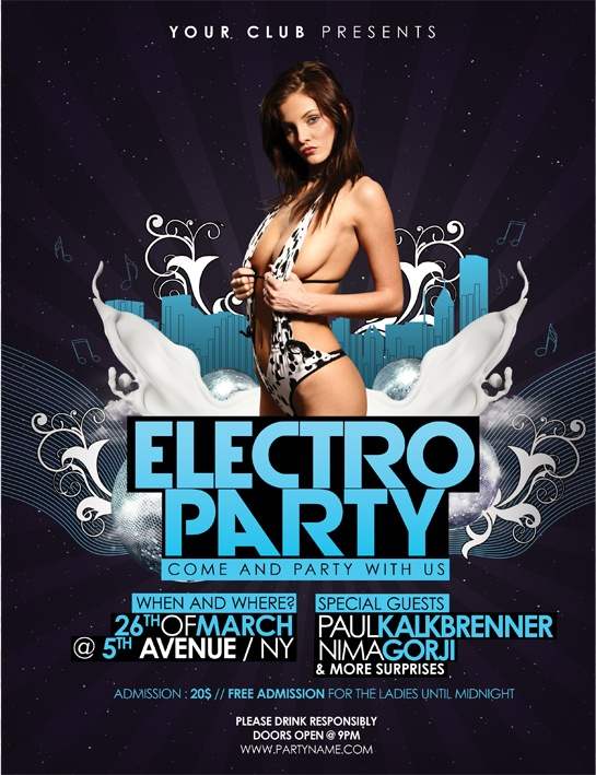 more info and the PSD download here: http://graphicriver.net/item/electro-party-flyer/1929003?ref=artbreeze