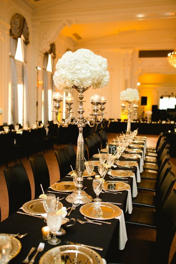 Best black and gold centerpieces ideas on pinterest