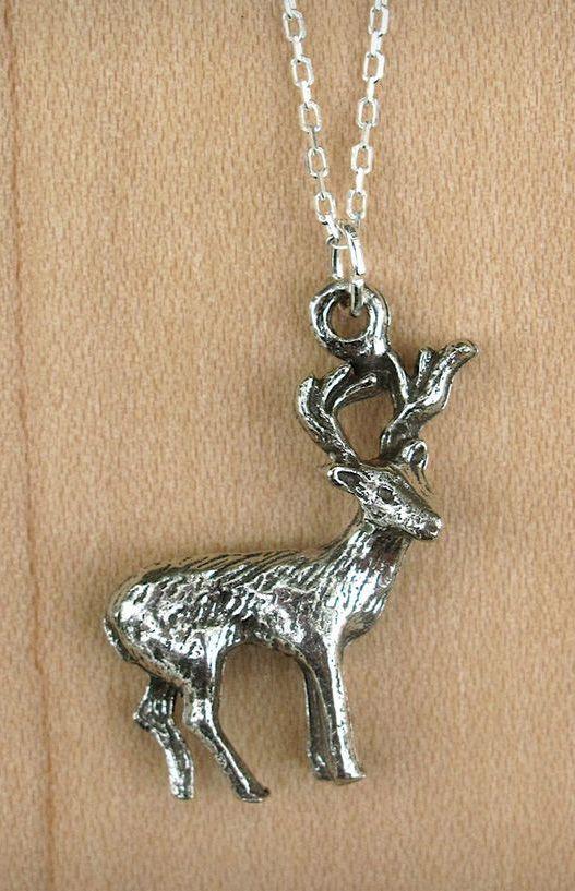 Pewter Deer Necklace
