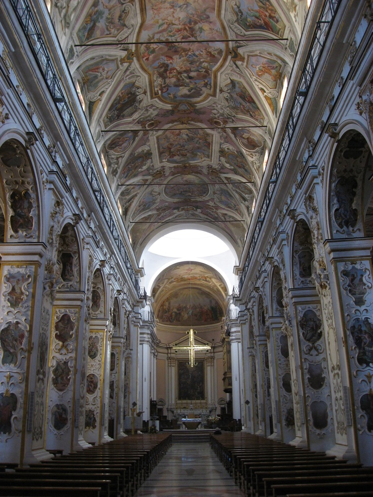Inside the Cathedral in Caltanissetta Italy