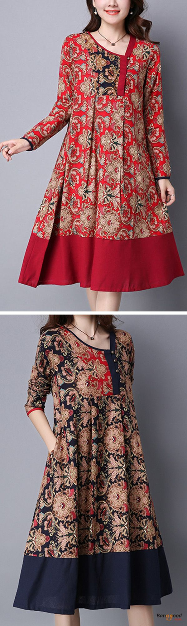 US$26.89+Free shipping. Size(US): XS~L. Material: Polyester. Home or out, love this vintage and casual dress. Women Dresses, Long Dresses, Dresses Casual, Dresses for Teens, Summer Dresses, Summer Outfits, Retro Fashion.