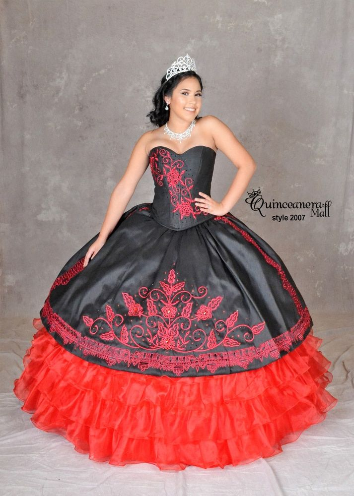 70ae18e286a Charra Quinceanera Dress  2007  quinceaneramall  diosacollection. 4-Piece Red  Rose ...