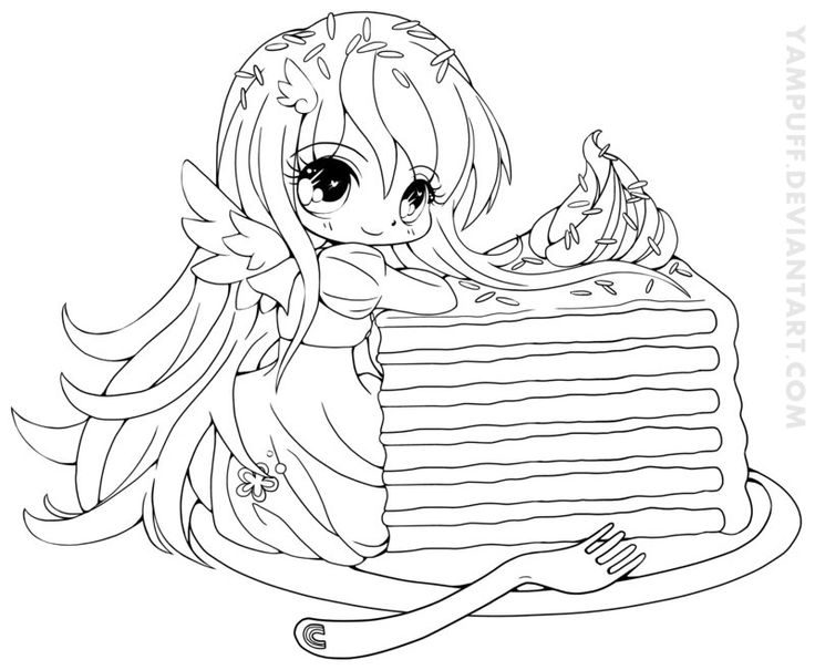 rainbow cake luna lineart by yampuffdeviantartcom