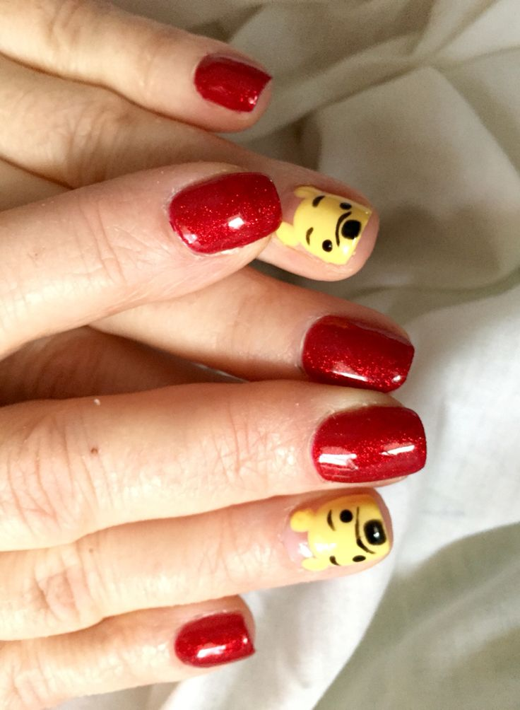 Best 25 disneyland nails ideas on pinterest disney nails winnie the pooh nail art the little pooh bear faces are so adorable prinsesfo Gallery