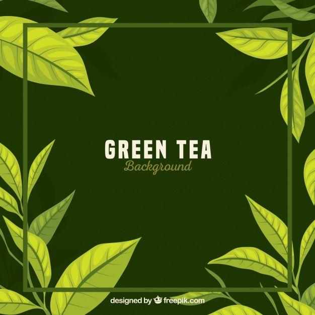 Download Tea Leaves Background With Flat Design For Free Tea Leaves Illustration Leaf Background Tea Leaves