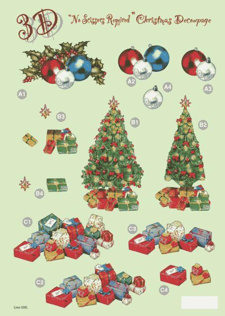 Decoupage paper christmas