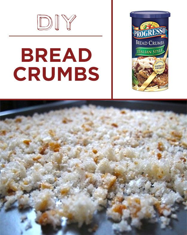 DIY breadcrumbs are a delicious way to upcycle old, stale bread. | 30 Foods You'll Never Have To Buy Again