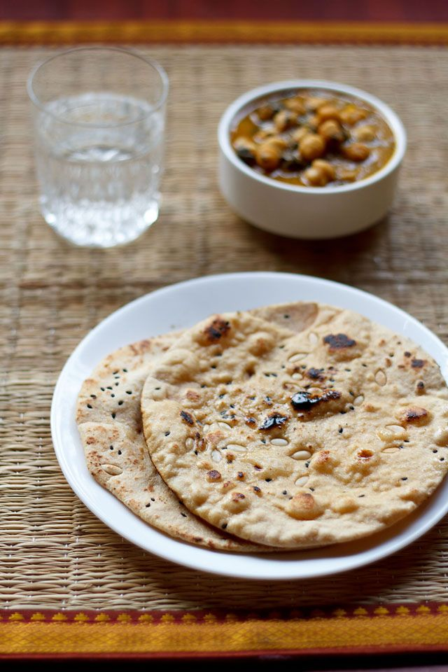 easy naan recipe made without yeast - step by step post.