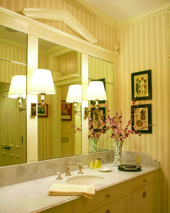 Bathroom mirror idea...Cathy Kincaid Interiors   Cathy Kincaid Interiors