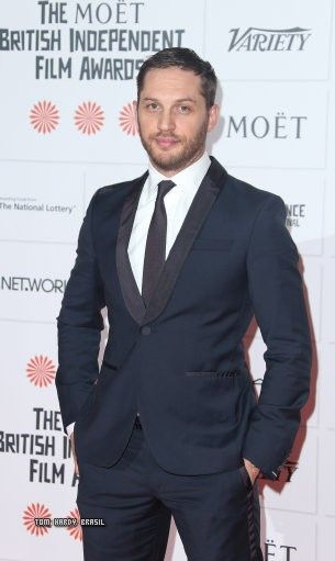 """Tom Hardy at BIFA 2013 - Tom has not won for best actor but """"Locke""""  has for best screenplay :-)"""