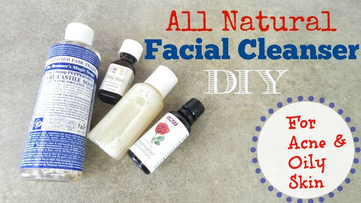 Homemade facial cleanser recipe.