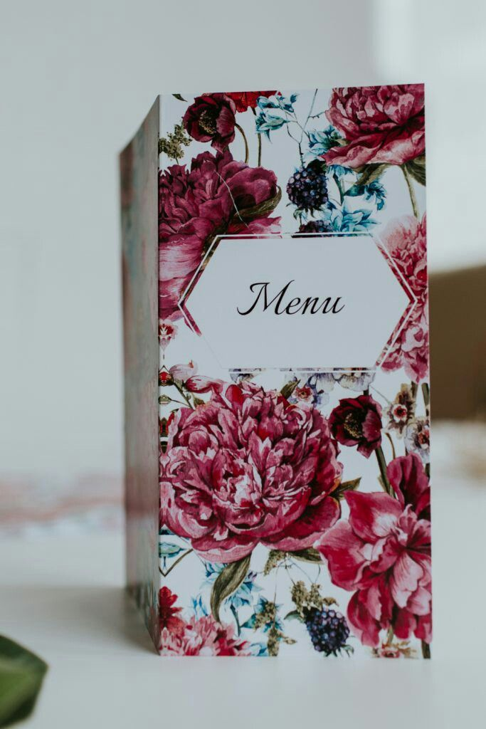 Flower wedding menu #flowerwedding#flowermenu#wedding#weddingideas#weddingmenu