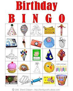 Birthday Bingo Game Cards: Print Out Birthday-Themed Bingo Games