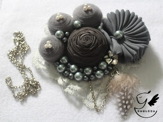 Starry Night Grey Statement Necklace