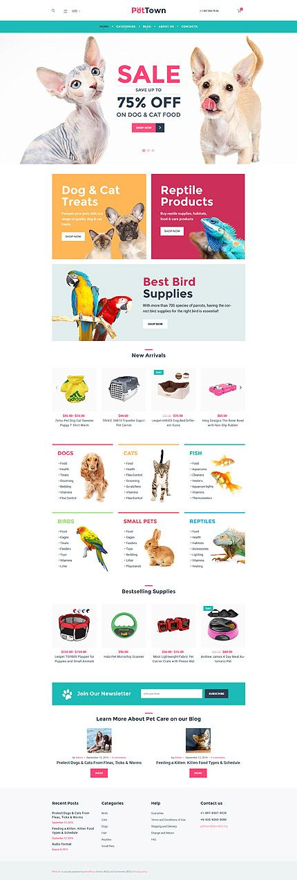 Pets & Supplies Online Store #WooCommerce #template. #themes #business #responsive #WooCommercethemes