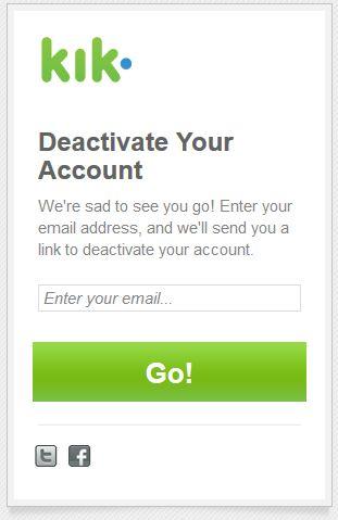 How to Delete KIK Messenger Account Permanently