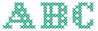 Brodera bokstäver i korsstygn