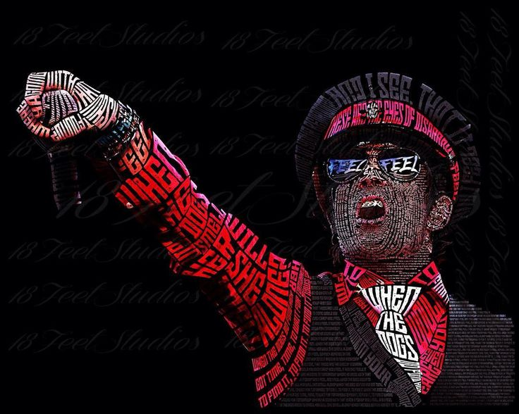 Scott Weiland Typography Portrait drawn with the lyrics to Plush typography portrait, typeface portrait, wordart, drawn with words, stone temple pilots