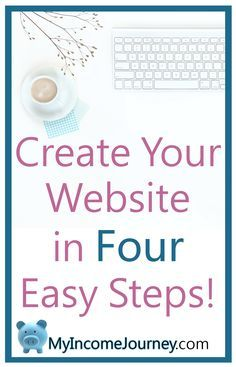 How to create your website in FOUR easy steps! Learn to start your own blog, make a website for your business, find a hosting company, install WordPress, and more!  start a blog, start a website, work from home, make money online, work at home mom, how to create a website, how to create a blog