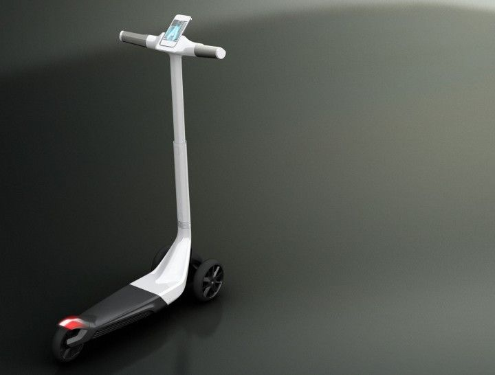 Developed by Peugeot Design Lab, the Trottinette Concept is a three-wheeled electric kick scooter developed for a new form of urban mobility aimed at improving accessibility to the city in a pleasurable and easy way.