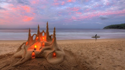 Castles In The Sand Noosa Australia iPhone 5 Nature Wallpapers