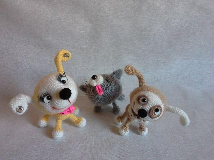 Project by Nati0703. Little Puppy & Little Kitten Crochet patterns by Svetlana Pertseva for LittleOwlsHut #LittleOwlsHut, #Amigurumi, #CrohetPattern, #Crochet, #Crocheted, #Puppy, #Pertseva, #DIY, #Craft, #Pattern