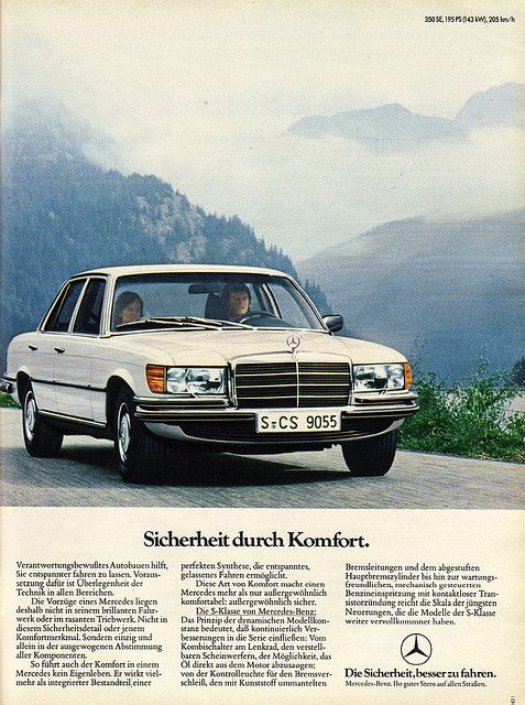#Mercedes W116 S class 350SE 1976 This is my current car though mine is 1974