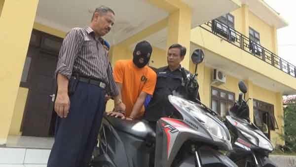 Residivis Ranmor Spesialis Pengunjung Villa Diringkus Polisi