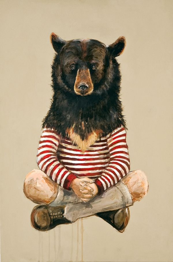 Disguise, Michael McConnell. I like how there is almost a contrast between it being a innocent child and a scary bear.