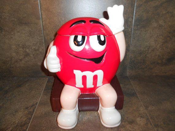 I'm Baad M & M Cookie Jar Red Mars Company by RetroandSteel