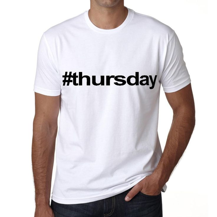 thursday Hashtag Men's Short Sleeve Rounded Neck T-shirt