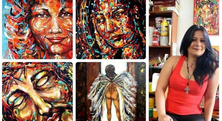 Diana Francia plasma emociones en sus pinturas   EL DEBATE