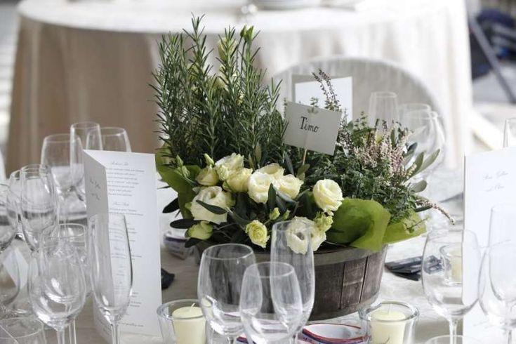 Centrotavola con fiori - Centrotavola dal sapore rustico