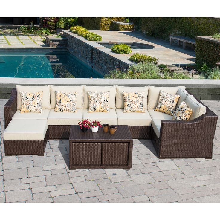 Sirio Matura 10 Piece Outdoor Furniture Set With Pillows | Overstock.com  Shopping