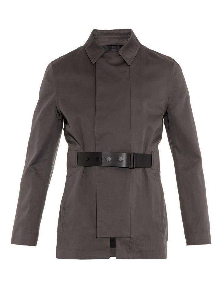 Leather belted trench coat   Balenciaga   MATCHESFASHION.COM UK