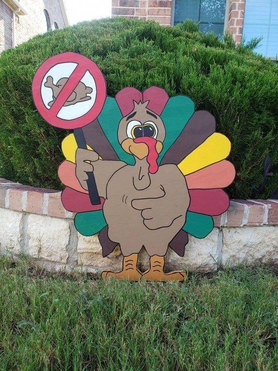 Boycotting Christmas 2020 Boycott Turkey Wood Lawn Sign/ Turkey Yard Art/ Outdoor | Etsy in