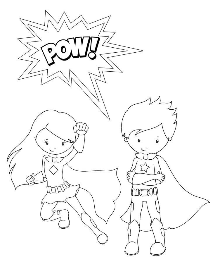 The 146 best Superhero Coloring Pages images on Pinterest