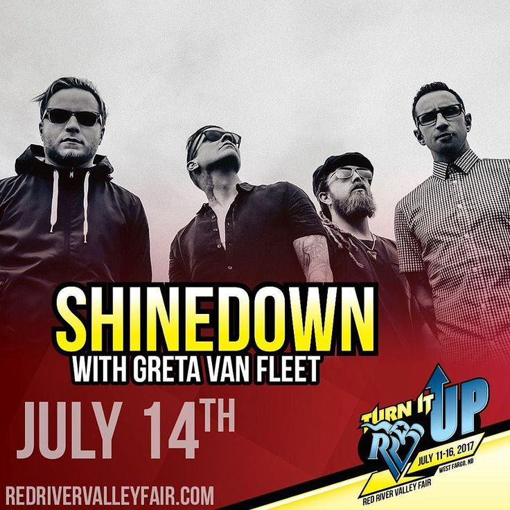 West Fargo ND! Its your turn to see #Shinedown with Greta Van Fleet at The Red River Valley Fair! Whos going to the show?! Show info: http://ift.tt/2uraa4m   via Instagram http://ift.tt/2tReWXj  Shinedown Zach Myers