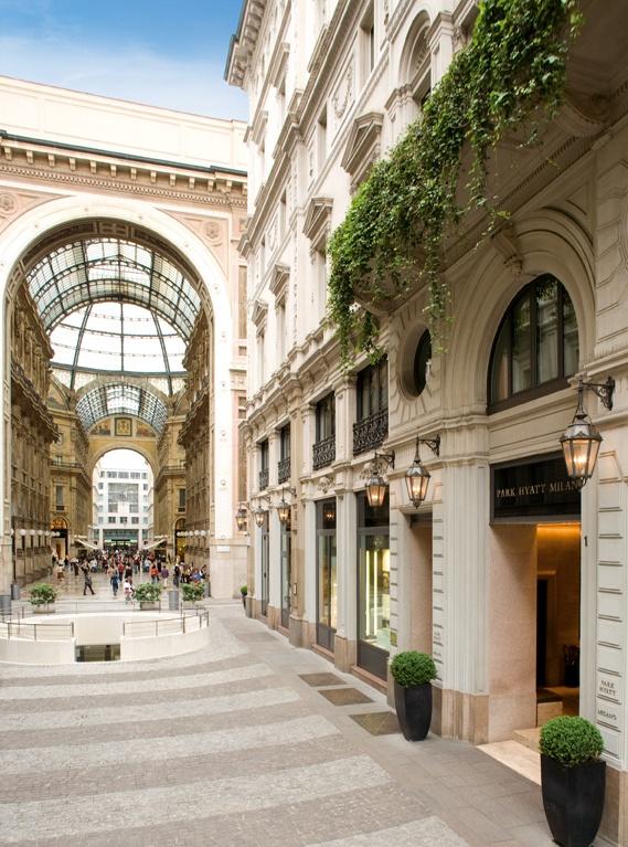 Park #Hyatt #Milan with #Galleria Vittorio Emanuele II