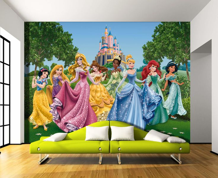 Best 25 disney wall murals ideas on pinterest disney for Disney princess wallpaper mural