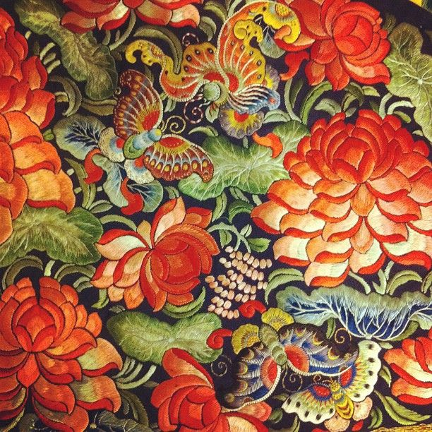 ♒ Enchanting Embroidery ♒ embroidered Chinese Silk