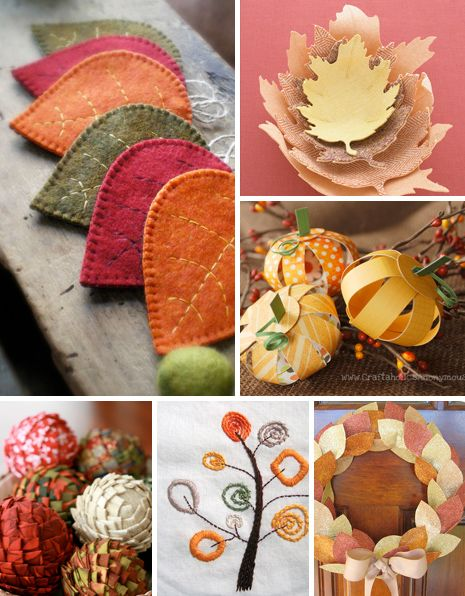Thanksgiving and autumn inspired crafts