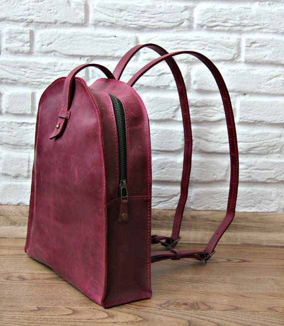 Mochila de mujer bolso de cuero mochila minimalista por InCarne