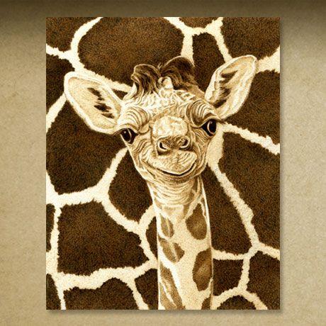 giraffe pyrography | Pyrography Illustrations