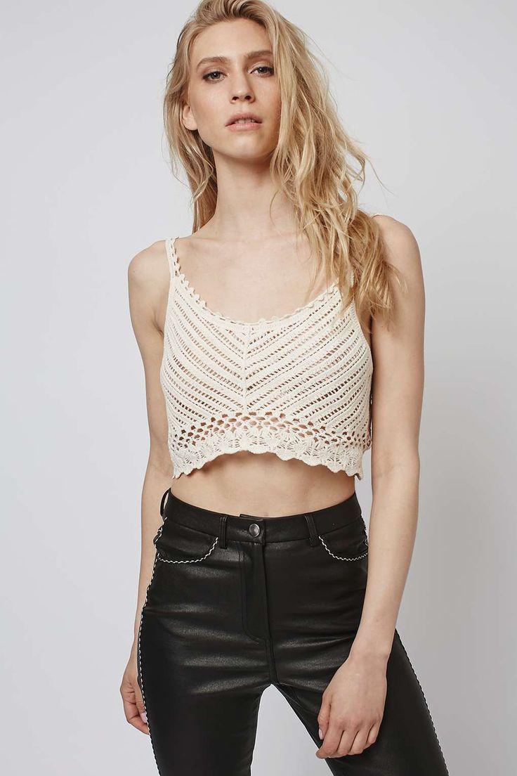 **Dream Catcher - Crochet Crop Top by Goldie - Tops - Clothing - Topshop