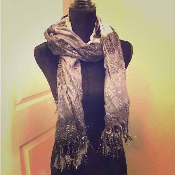 Shimmering Black and Silver Scarf Shimmering scarf Accessories Scarves & Wraps