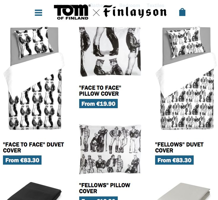 Tom of Finland collection by Finlayson. Rohkea ja tyylikäs mallisto. Menestystä! http://byfinlayson.com/  #tomoffinland