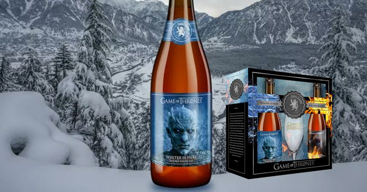 """Winter is here"" es una cerveza inglesa doble de estilo belga de alc. 8,3% vol. con el temible Night King estampado en la etiqueta.  - http://j.mp/2sIjjRy"