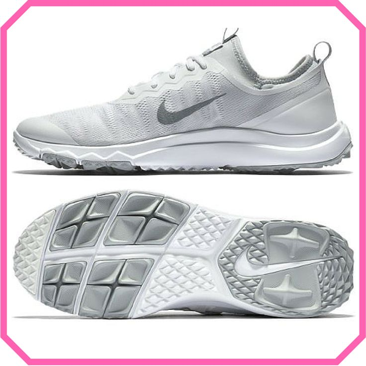 White/Wolf Grey Nike Ladies Fi Bermuda Golf Shoes available at @lorisgolfshoppe